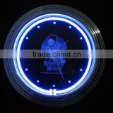 Ideal gifts of Double Tube Wall retro Neon Light Clock beautiful design background
