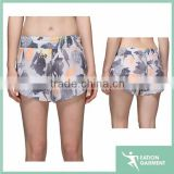 floral printed pleated top selling products 2015 board shorts teen girls in tight short shorts