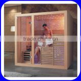 Luxury 2-6 person wooden culture dry steam sauna room                                                                                                         Supplier's Choice