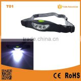 T01 The Best Factory Cheap LED Headlamp 2*CR2032 battery plastic head lamp                                                                         Quality Choice