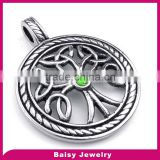 China factory price celtic tree of life pendant necklace Stainless Steel jewelry