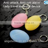 Colorful Egg personal safety alarm security whistle alarm keychain for child ladies elderly night workers