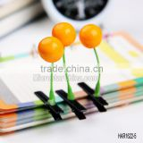 Fashion Jewelry Novelty Flower Fruit Cherry Hair Clips for Antenna Grass Hair Clip Design