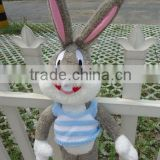 kids birthday festival present lovely cartoon animal style bugs bunny plush toy doll with clothes
