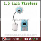 1.5 inch TFT LCD 2.4GHz 4-Channel Wireless CMOS Camera Baby Monitor with TV System