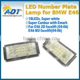 2016 hot sale 18 LEDs number Plate LED lamps for bmw e46 led plate