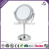 hot selling 6 inch lighted makeup table cosmetic vanity mirror with light for Christmas gift