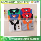 New design summer children's clothing boy's cotton polo t shirt with embroidery logo