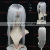 High quality long straight grey wholesale synthetic wigs