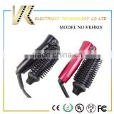 roller meches folding mini electric 2 in 1 hair curler brush