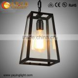 European retro glass Industrial chandelier,Simple glass chandelier
