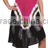 Wholesale Tie Dye Style Umbrella Batik Free Size Summer Dresses Indian Dresses