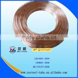 6*1mm Double wall bundy tubes Double wall stee pipe copper coated tube for Refrigerator,Freezer,Compressor etc