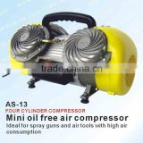 Mini Oil Free Air Compressor for Paint Spray Guns AS-13