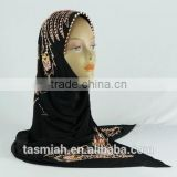 C-BS213 embroidered ice silk Beaded Hijab