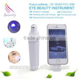 Health and beauty USB rechargeable ion and blue light treatment massage cream eye massage pen