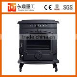Indoor freestanding cast iron fireplace/wood burning stove with warm temperature DHF243BI