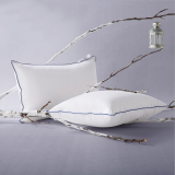 Best-selling Pillow Double Stitch with Blue Self-piping for Hot Sale