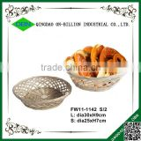 Hot sale handicraft wicker bread tray