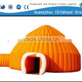 (HD-9701) orange color attractive inflatable jumping tent/ inflatable jumping tent/jumping castles inflatable attractions
