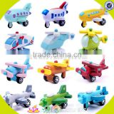 wholesale hottest kids wood toy plane new fashion children wood model plane hot sale baby wood air plane W04A153
