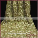 2016 newest glittering fabric with glue as ground fabric with satin coiling embroidery lace fabric