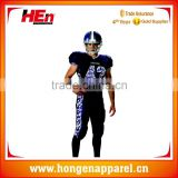 Hongen apparel Sublimation Custom made American football apparel, youth american football jersey