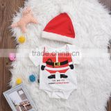 S60686B New Babys Cotton Bodysuits Climbing 2 Pieces Clothing Sets Short Sleeve Romper+ Hat