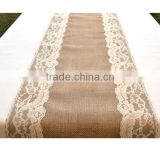 Lace and Burlap table runner,Laser cut felt table runner,Table Runner for wedding decoration