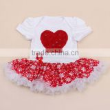 Modern Design Cotton Baby Flutter Sleeve Skirted Leotard