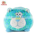 "New Gift Realistic Stuffed Toy Animal Kids Toy 6"" Round Leopard Plush Throw Pillow For Baby"