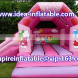 inflatable kitty jumping house with slide ID-CB084