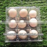 9 pcs plastic transportation egg tray