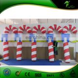 6.5ft Height Christmas Plastic Candy Cane For Decoration / Customize Advertising PVC Inflatable Candy Arches