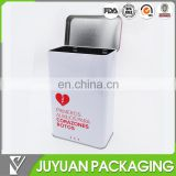 2015 tin box factory's new decorative personalized hinged rectangular metal tin container
