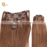 virgin human hair clip in hair extensions including wholesale virgin 18 6# Brazilian