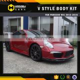 3 hot style auto tuning kits convert to V design 911 991 carbon fiber material car bumper body kit