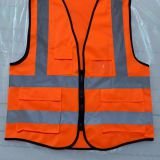 High visibility 100%polyester Vest