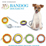 Creative pet toy walking dog leash dog donut leash multi-purpose frisbee pet supplies