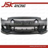 2008-2013 JSK STYLE GLASS FIBER FRONT BUMPER WITH CARBON FIBER NOSE COVER AND SIDE VENTS FOR NISSAN R35 GTR(JSK220959)