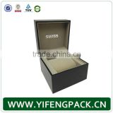 luxury wholesale branded custom gift watch packaging box with pillow, wrist display storage mens luxury leather watch box