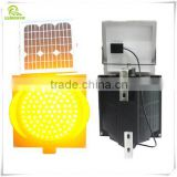 New design high visibility 300mm yellow flashing solar traffic warning light
