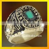 green stone men sports ring custom championship silver rings
