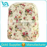 Designer Flower Print Oilcloth Backpack Diaper Bag Custom Waterproof Backpack Diaper Bag 2015