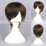 High Quality 35cm Short Straight Color Mixed Synthetic Anime Lolita Wig Cosplay Costume Lolita Hair Wig Party Boy's Wig