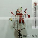 fashion christmas snowman metal card holder wall decoration, wall hanging business card holder