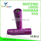 LeZT 2016 Hot sale Ecig 18650 Battery Original Efan 18650 3100mAh 40A Rechargeable Battery