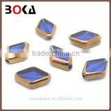 // Original jewellery glass stones diamond shape // golden border nice crystal fancy glass stones in bulk //