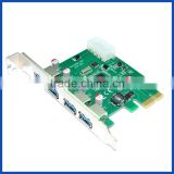 computer accessories 4 port USB 3.0 PCI Express converter card PCIe to USB3.0 hub expansion adapter                                                                         Quality Choice