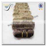 Wholesale top quality brazilian deep curly ombre hair weave 100% virgin human hair                                                                                                         Supplier's Choice